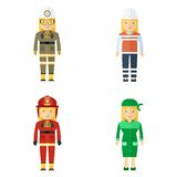 Professions service staff woman Royalty Free Stock Photos