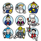 Professions set 2 Stock Photos