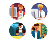 Professions set icons Stock Photography