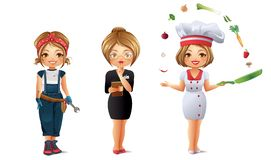 Professions Set 2 Stock Images