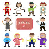Professions set. Set of people of different professions, cartoon style Stock Photo