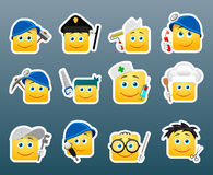 Professions smile stickers Royalty Free Stock Photo