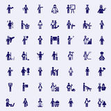 Professions stick figures Stock Images