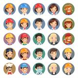 Professions Vector Characters Icons Set1.1 Royalty Free Stock Photography