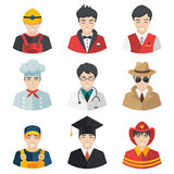 Professions Vector Flat Icons. People Professions set Vector Flat Icons isolated on white Stock Images