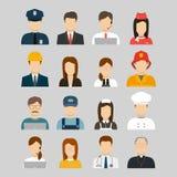 Professions Vector Flat Icons. Signs, symbols set Stock Photos