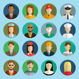 Professions Vector Flat Icons. Stock Photo