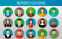 Professions Vector Flat Icons Royalty Free Stock Photos