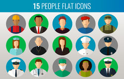 Professions Vector Flat Icons Royalty Free Stock Images