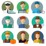 Professions Vector Flat Icons. Royalty Free Stock Photos