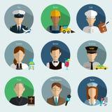 Professions Vector Flat Icons. Signs, symbols set Royalty Free Stock Photo