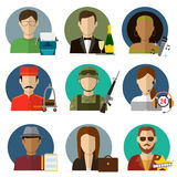 Professions Vector Flat Icons. Signs, symbols set Royalty Free Stock Images