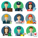 Professions Vector Flat Icons. Stock Photos