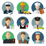 Professions Vector Flat Icons. Signs, symbols set Stock Images