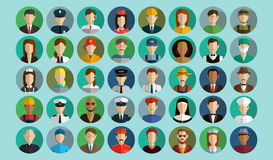 Professions Vector Flat Icons. Stock Image