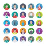 Colourful Flat Icons Pack of Professions. These Professions Vector Icons Set is definitely great if you`re looking professional avatars to portray yourself or Stock Photos