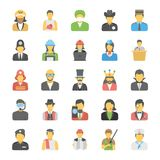 Flat Icons Set of Professions. These Professions Vector Icons Set is definitely great if you`re looking professional avatars to portray yourself or for any Royalty Free Stock Photography
