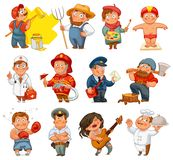 Professions. Vector illustration. Isolated on white background. Set Stock Images