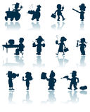 Professions vector silhouette Stock Images