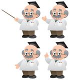 Professor. A professor in 4 different poses. No transparency used. Basic (linear) gradients used Royalty Free Stock Images