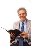 Professor. University professor with book, teaching royalty free stock image
