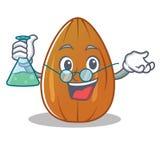 Professor almond nut character cartoon Royalty Free Stock Photos