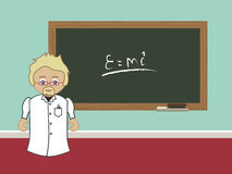 Professor blackboard Royalty Free Stock Photo