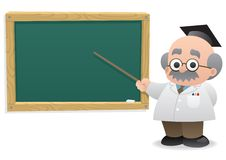Professor & Blackboard Royalty Free Stock Photo