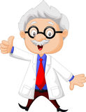 Professor cartoon giving thumb up Stock Photos