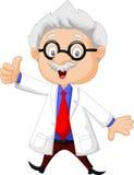 Professor cartoon giving thumb up. Illustration of Professor cartoon giving thumb up royalty free illustration