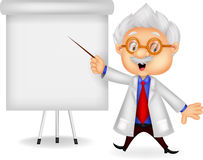 Professor cartoon teaching Royalty Free Stock Photos