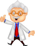 Professor cartoon thumb up Stock Photography