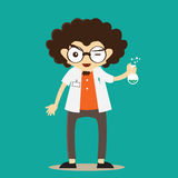 Professor Character Mascots ilustração do vetor