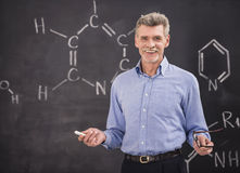 Professor. Of chemistry leading lecture in University stock image