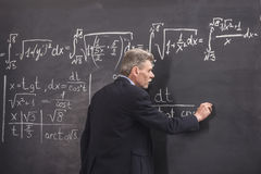 Professor. Of chemistry leading lecture in University royalty free stock image