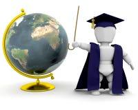 Professor com globo ilustração royalty free