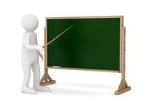 Professor com o ponteiro no quadro-negro ilustração stock
