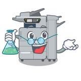 Professor copier machine isolated in the cartoon. Vector illustration stock illustration