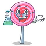 Professor cute lollipop character cartoon. Vector illustration Royalty Free Stock Image