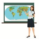 Professor da geografia ilustração royalty free