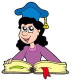 Professor da mulher com livro Imagem de Stock Royalty Free