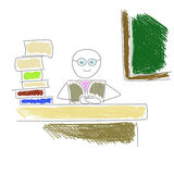 Professor de assento Fotografia de Stock