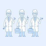 Professor in different versions Stock Photography