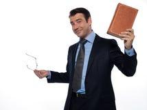 Professor do homem que mostra o ensino do livro Fotografia de Stock Royalty Free
