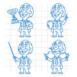 Professor doodle concept set 1 Royalty Free Stock Images
