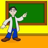 Professor dos desenhos animados Fotos de Stock