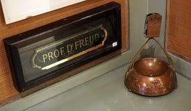 Professor Dr. Freud. Original sign of professor doctor Freud in Freud museum in Vienna, Austria stock images