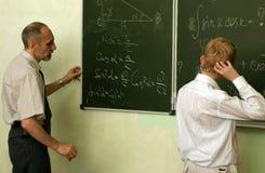 Professor e aluno Imagem de Stock Royalty Free