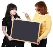 Professor e estudante irritados Fotografia de Stock