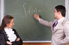 Professor e estudante novos imagens de stock